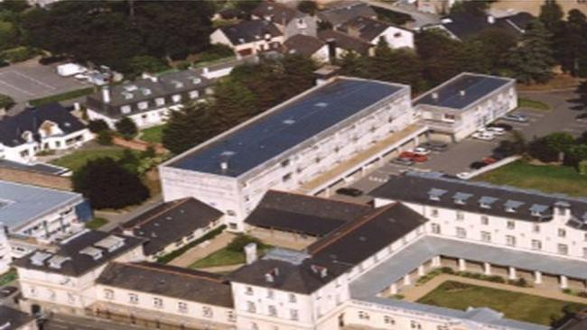 Photo aérienne d'un bâtiment universitaire
